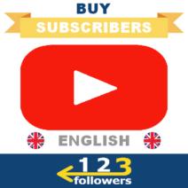 Buy English Youtube Subscribers